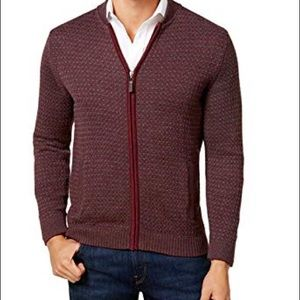 Tasso Elba men's cardigan zip up